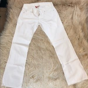 Like new lucky brand white jeans size 0/25